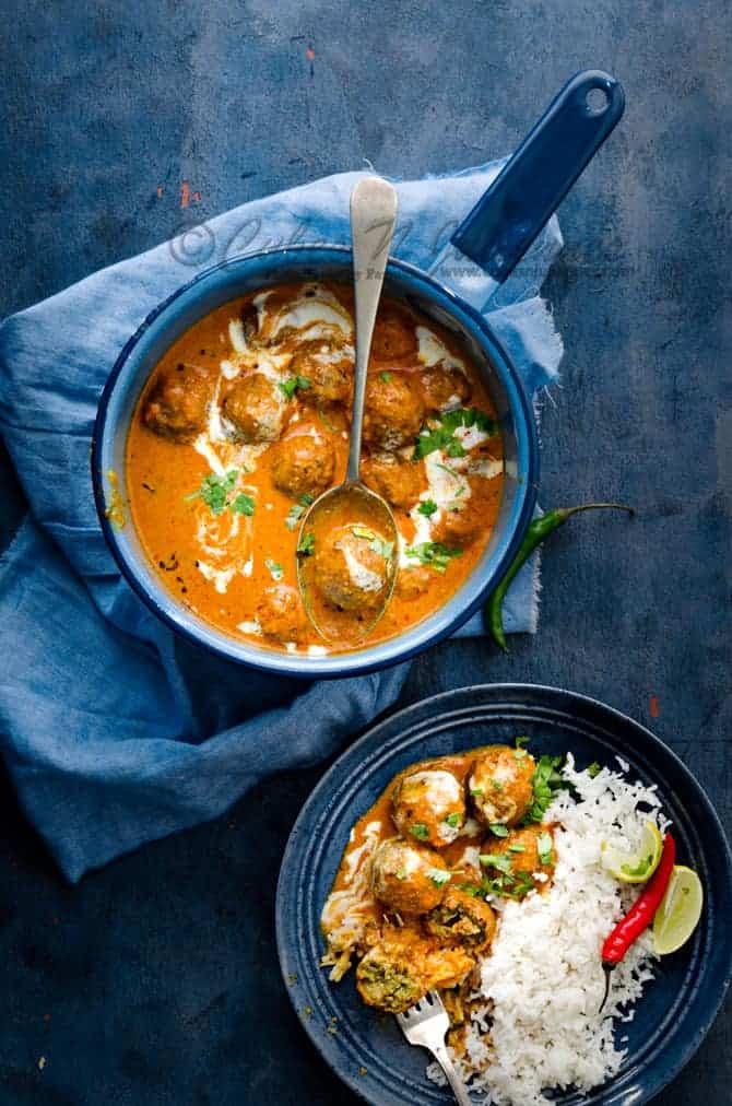 Soy Keema Kofta curry