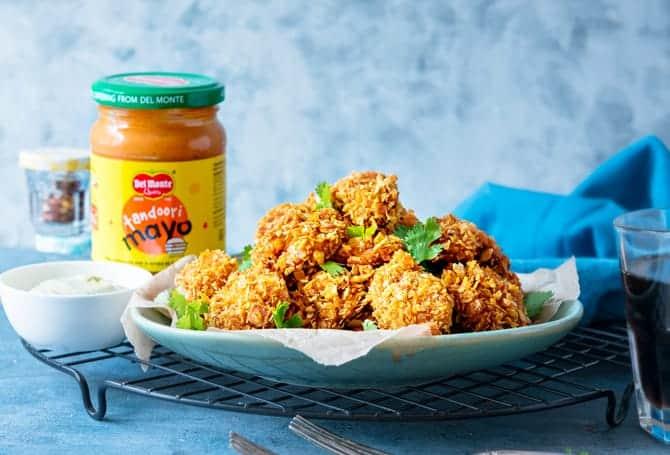 Crisp Baked Tandoori Mayo Cheddar Chicken
