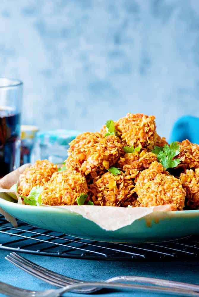 Crisp Baked Cheddar Chicken