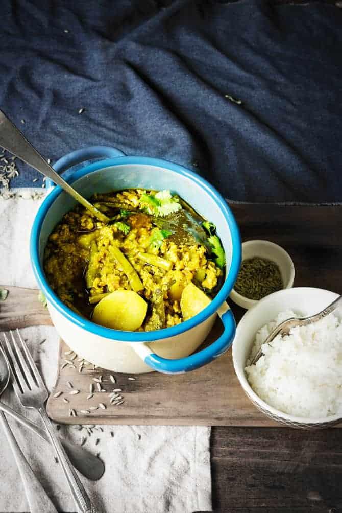Keema Gwar Aloo Curry