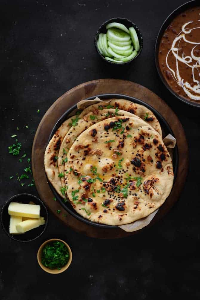 how to make best garlic butter naan at home