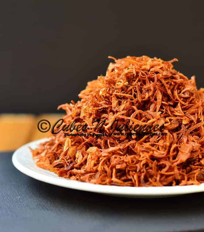 How to Make Perfect Crisp Birista (Golden Fried Onions) at home