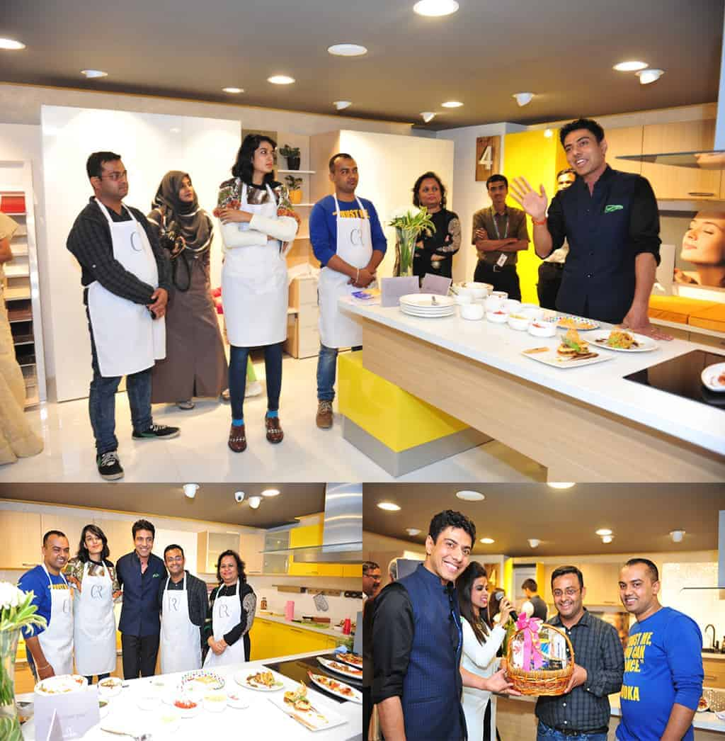 Chef. Ranveer Brar invited the audience to cook with him