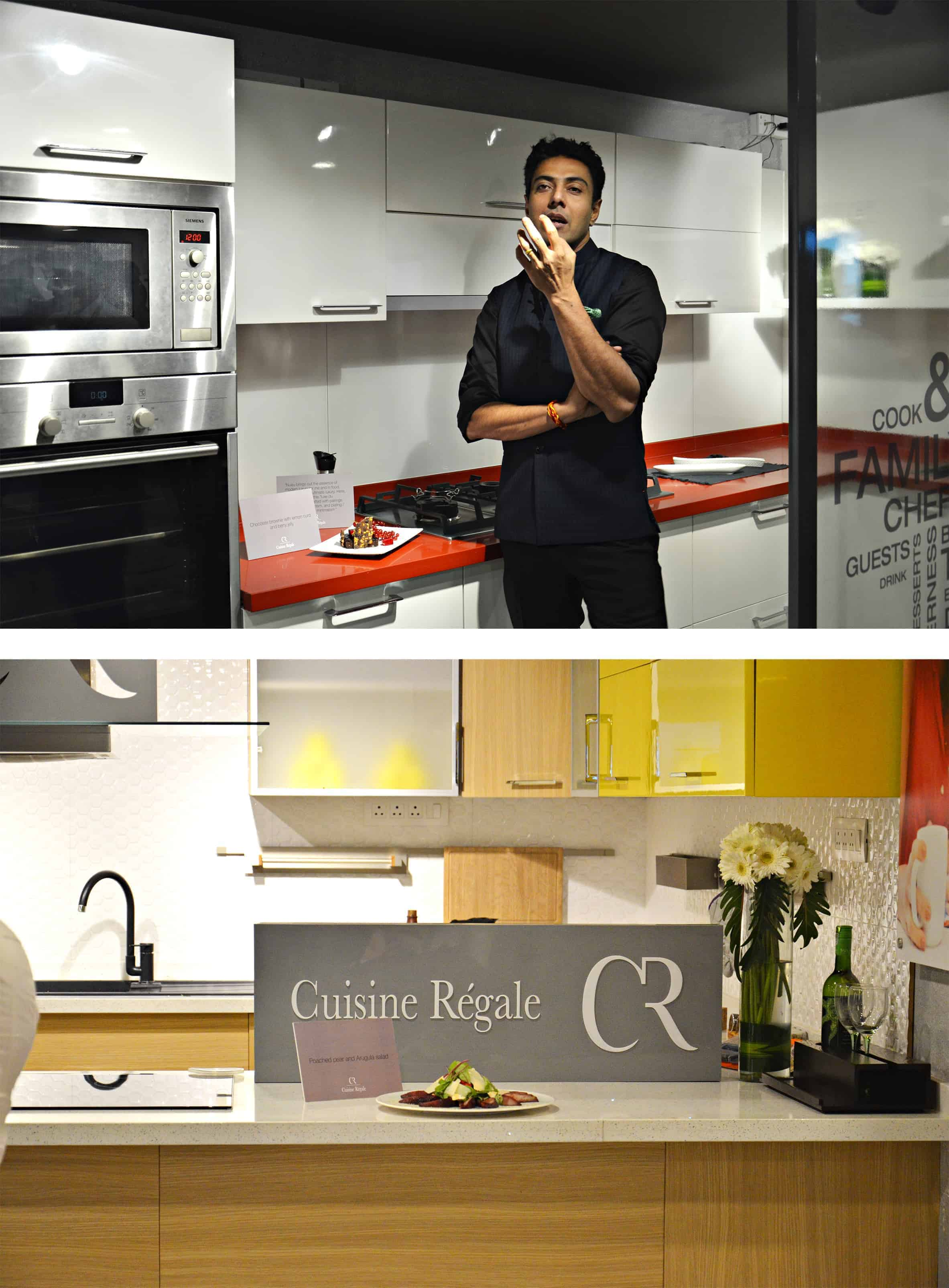 Chef ranveer brar showcases food art at the launch of for Cuisine regale