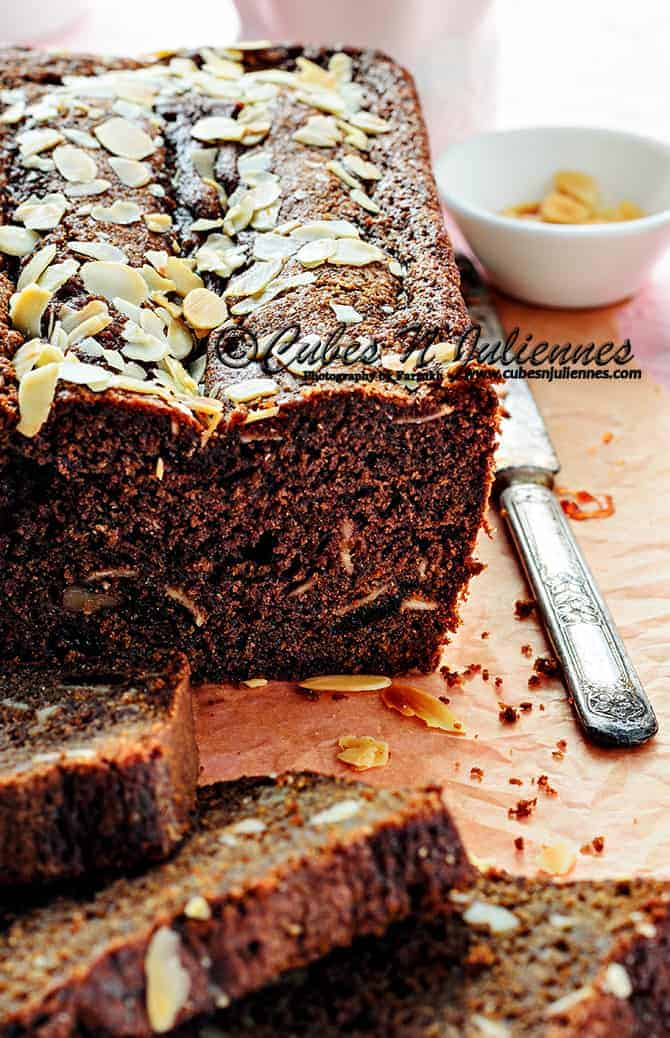 Chocolate cake with Prunes and Pecan