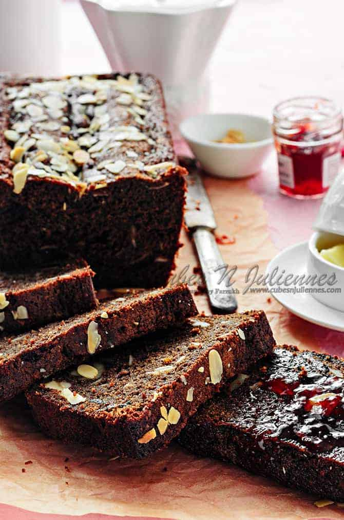 Chocolate Cake with Prunes and Pecans