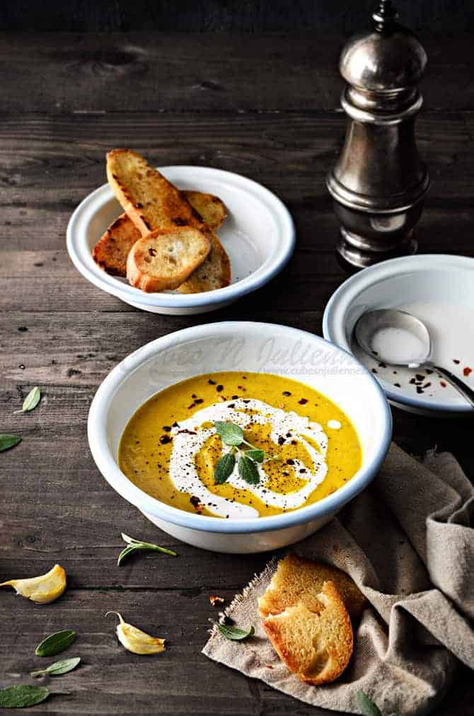 Pumpkin Soup with Sage and Coconut