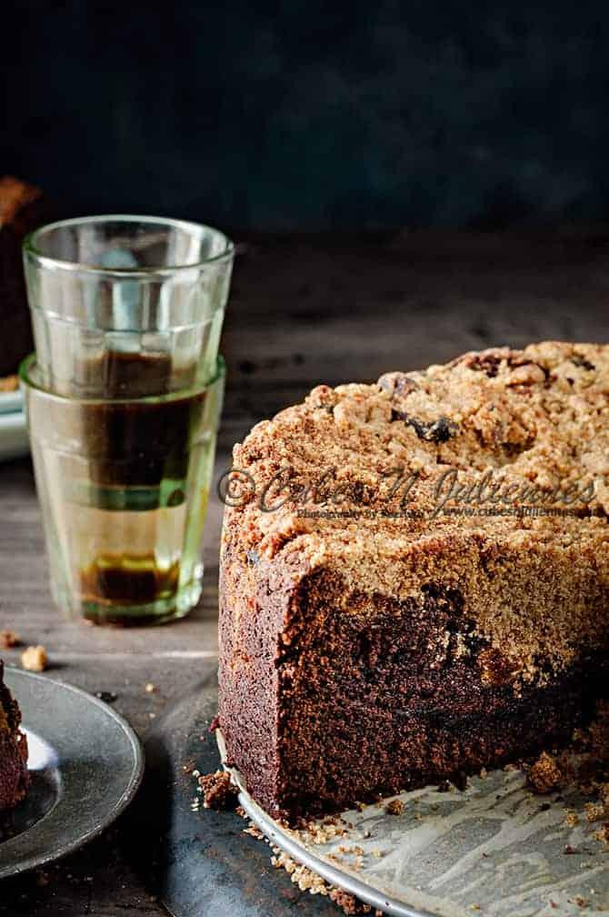 Whole Wheat Espresso Streusel Cake
