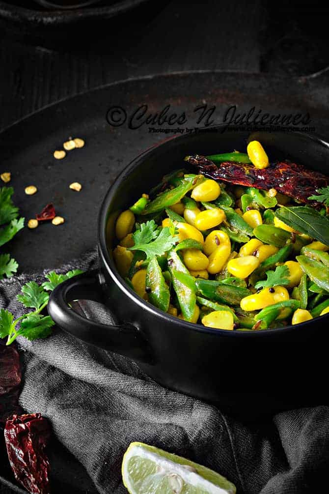 Beans corn stir fry
