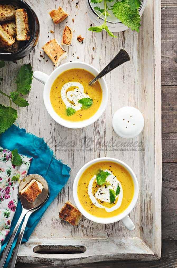 Carrot lemon Balm Soup