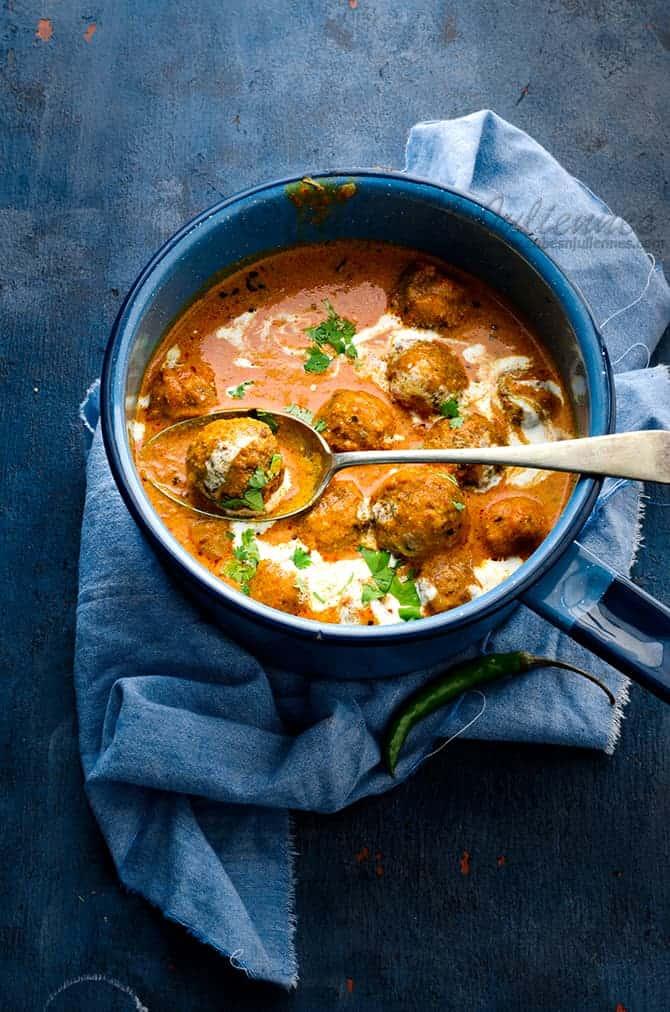 Matar Kofta curry