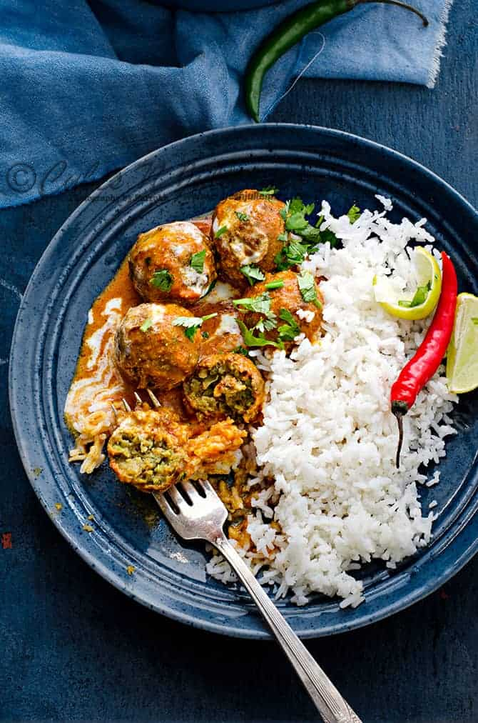 Soybean peas kofta curry