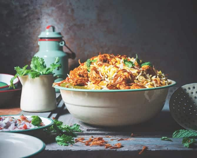 Hyderabadi Style Prawns Dum Biryani