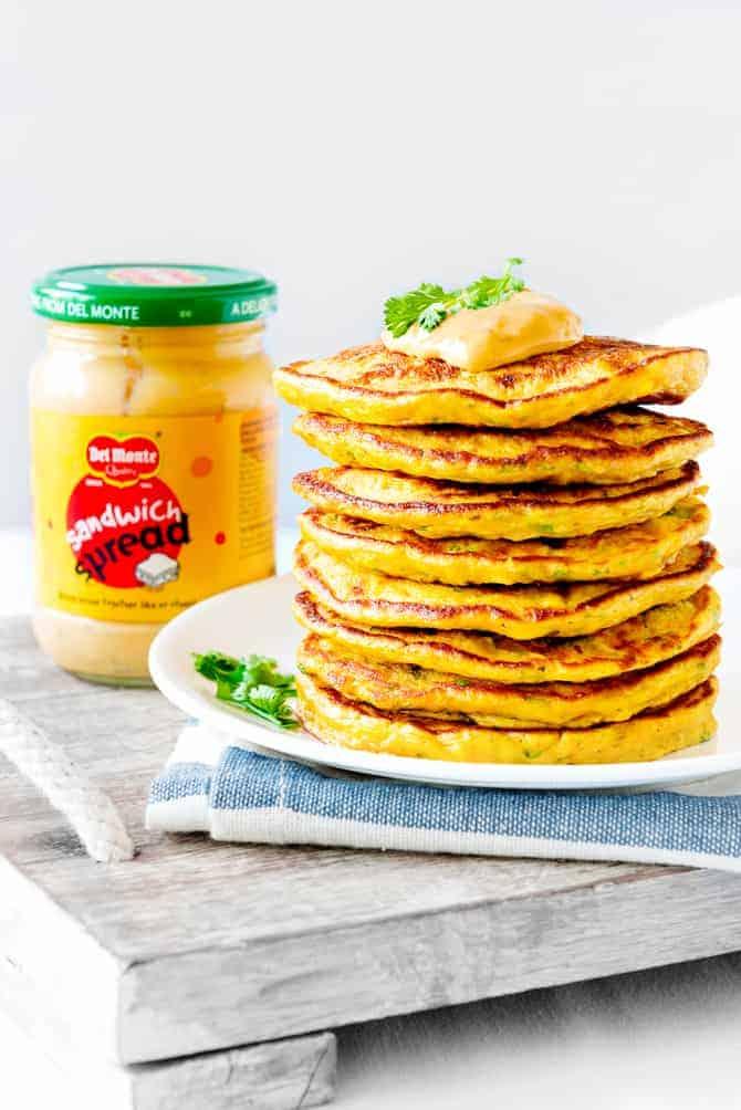 Carrot Corn Sandwich Spread Mayo Pancakes