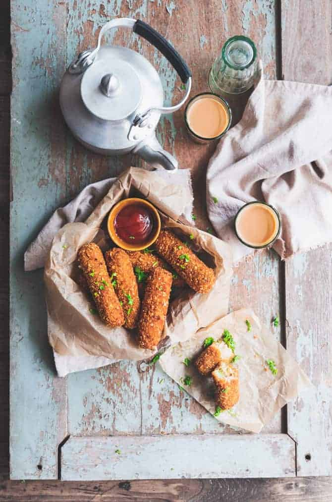 Vegetable and Cheese Fingers