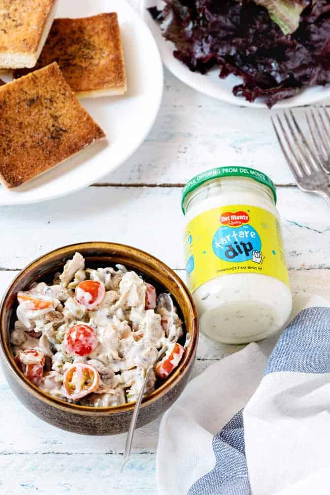 Tuna Mushroom Mayo Open Sandwich