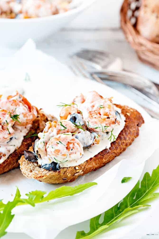 Shrimp Walnut Bruschetta