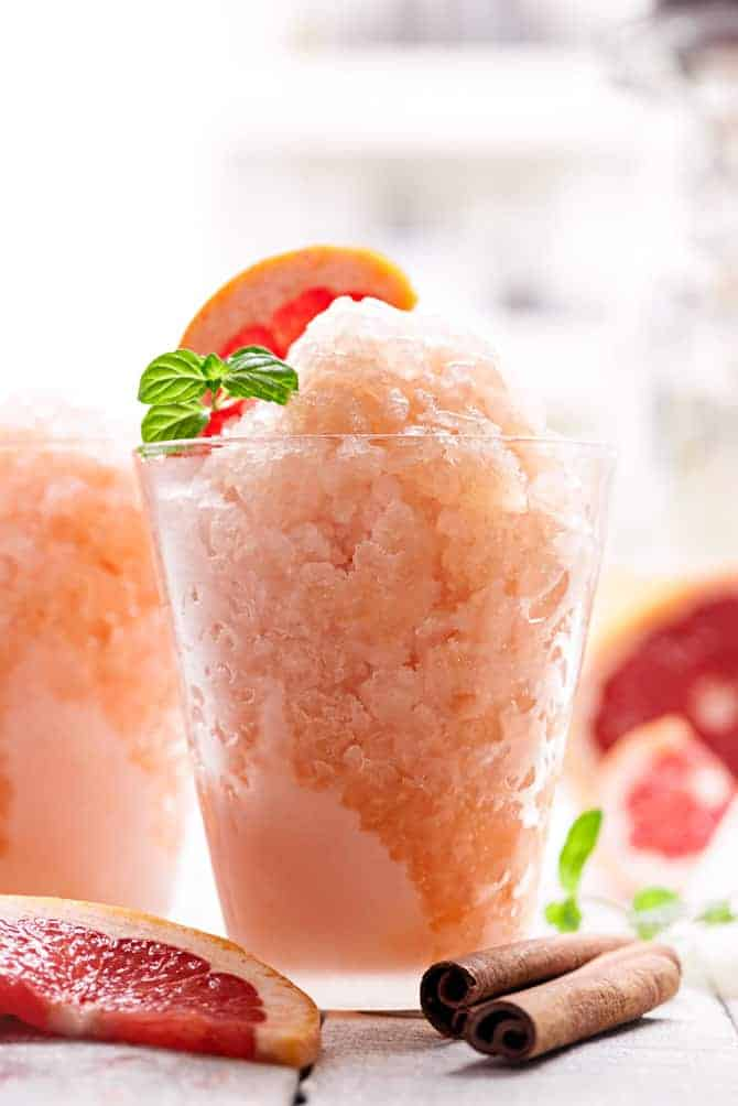 Spiced Grapefruit Granita