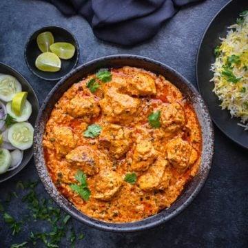 Tandoori Murgh Tikka Masala recipe. Restaurant style chicken tikka masala