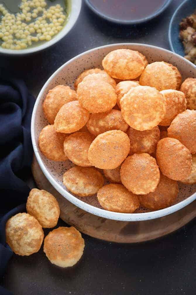 how to make puchka puri. Atta Golgappa.