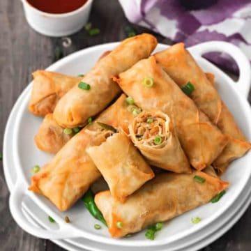 How to make vegetable spring rolls. Veg Spring roll recipe