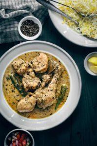 Chicken kali mirch recipe. Murgh kali Mirch. Kali Mirch chicken in a white gravy.Black pepper chicken curry.