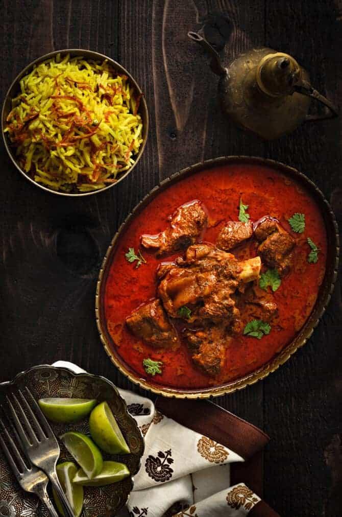 Lucknowi Gosht korma recipe, Awadhi mutton korma recipe, Awadhi mutton curry