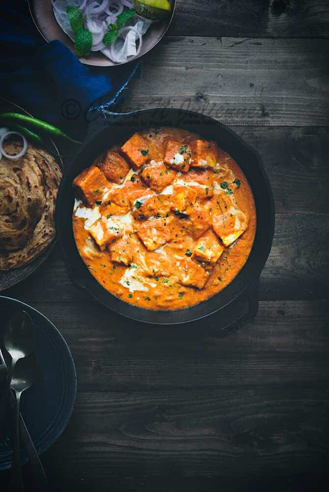 Paneer Makhanwala Recipe Restaurant Style - Cubes N Juliennes