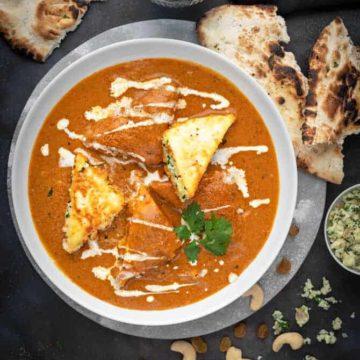 restaurant style paneer pasanda recipe step by step (stuffed paneer curry recipe)