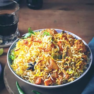 how to make veg biryani recipe. Vegetable biryani recipe, hyderabadi veg dum biryani
