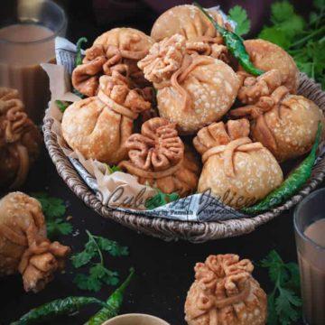 potli samosa recipe, Vegetable samosa, veg potli samosa recipe. vegetable potli samosa, veg money bags