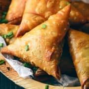 Chinese Samosa Recipe, Chinese chicken samosa, noodles samosa