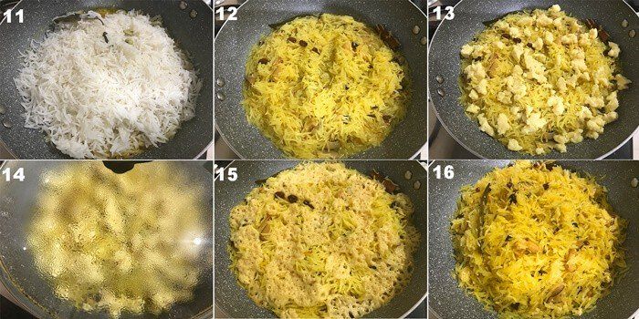 Steps of making of Zarqa pulao recipe (meethe chawal)