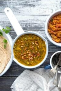 Dal palak recipe, palak dal recipe, lentils with spinach
