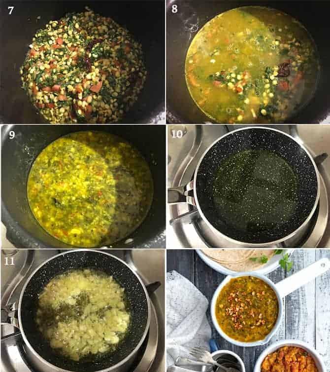 Dal Palak Recipe | How to make Palak Dal Recipe - Cubes N ...