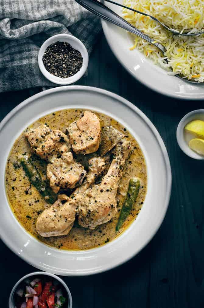 chicken kali mirch recipe, how to make kali mirch chicken recipe, murgh kali mirch, black pepper chicken