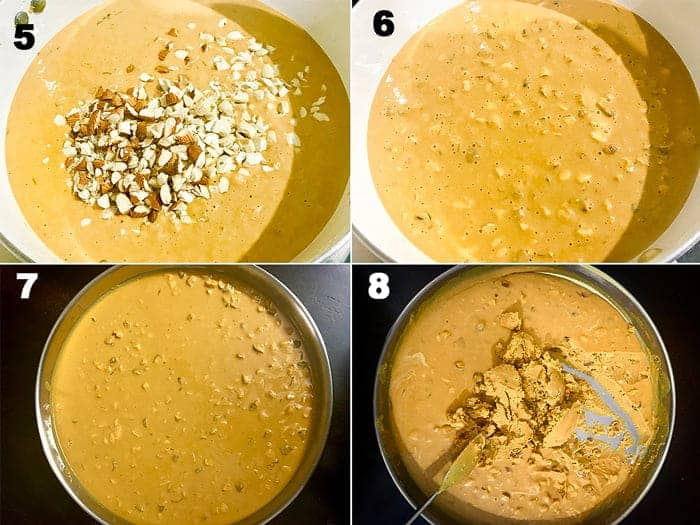 Steps for the making of besan ladoo recipe