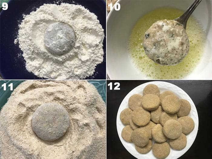 Steps for the making of chicken cutlet recipe