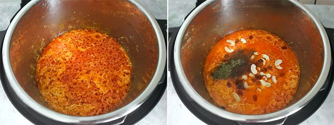 Step by step collage for the making of Instant Pot Gajar Halwa.