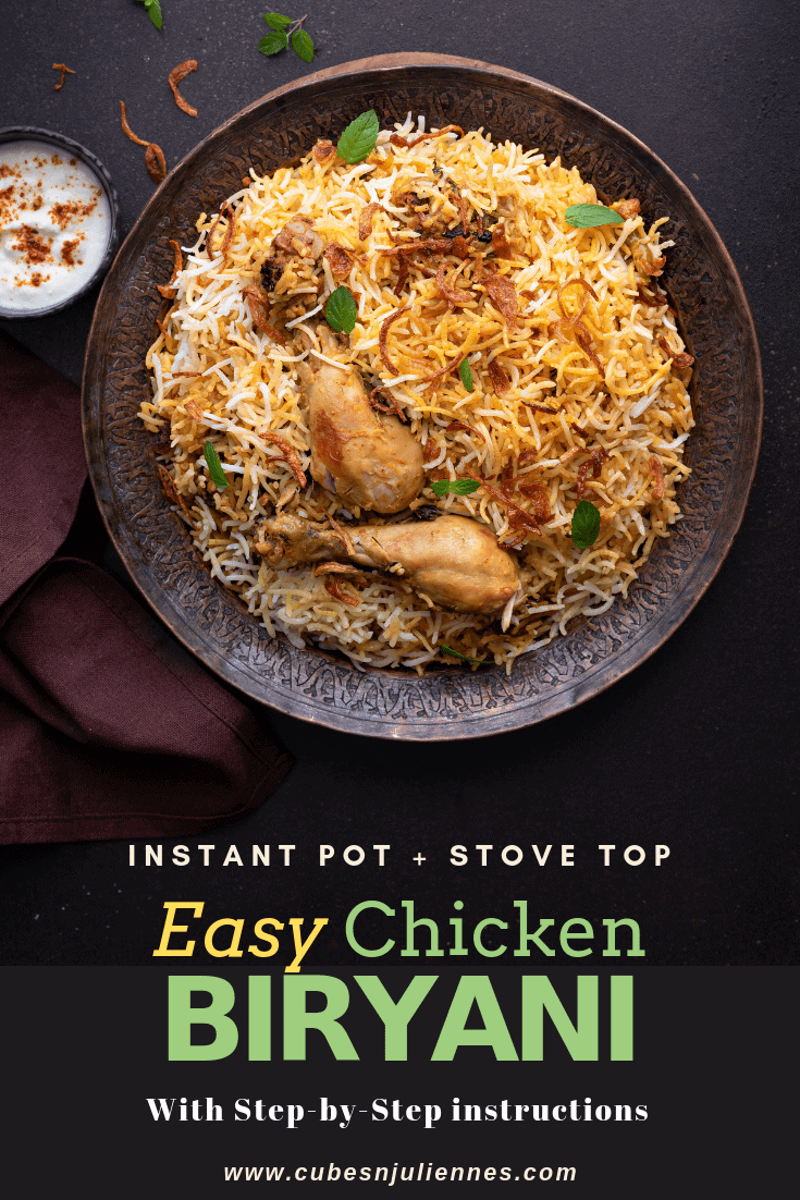 Chicken Biryani - A luxurious delight known worldwide and loved by all. Beautiful melange of chicken layered with long grain basmati rice and then slow cooked (dum) to perfection. Presenting to you today, the most easiest and the bestChicken Biryani recipe you will firmly adore. Here is how to make chicken biryani recipe on stovetop and in Instant pot pressure cooker, step by step.