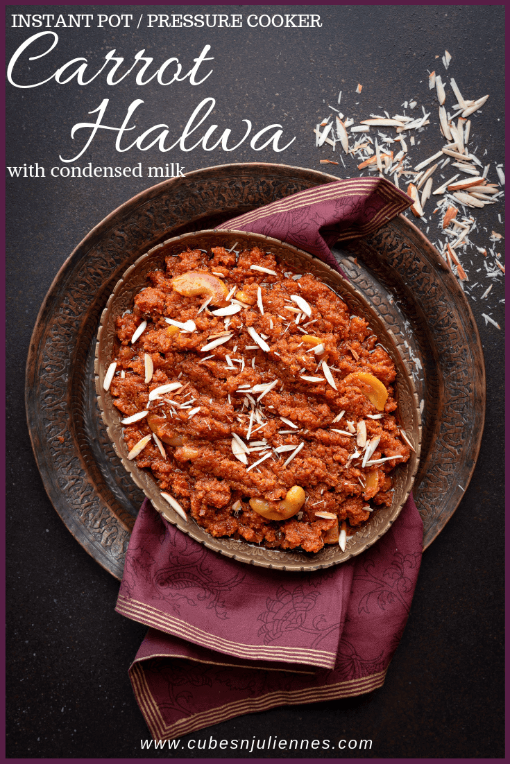 Carrot Halwa or Gajar Ka Halwa with milkmaid or sweetened condensed milk. Here is a simple, easy and quick gajar ka halwa recipe without khoya using Instant pot and pressure cooker method. Let's see how to make carrot halwa without khoya step by step. #diwali #Indian #dessert #sweets #glutenfree