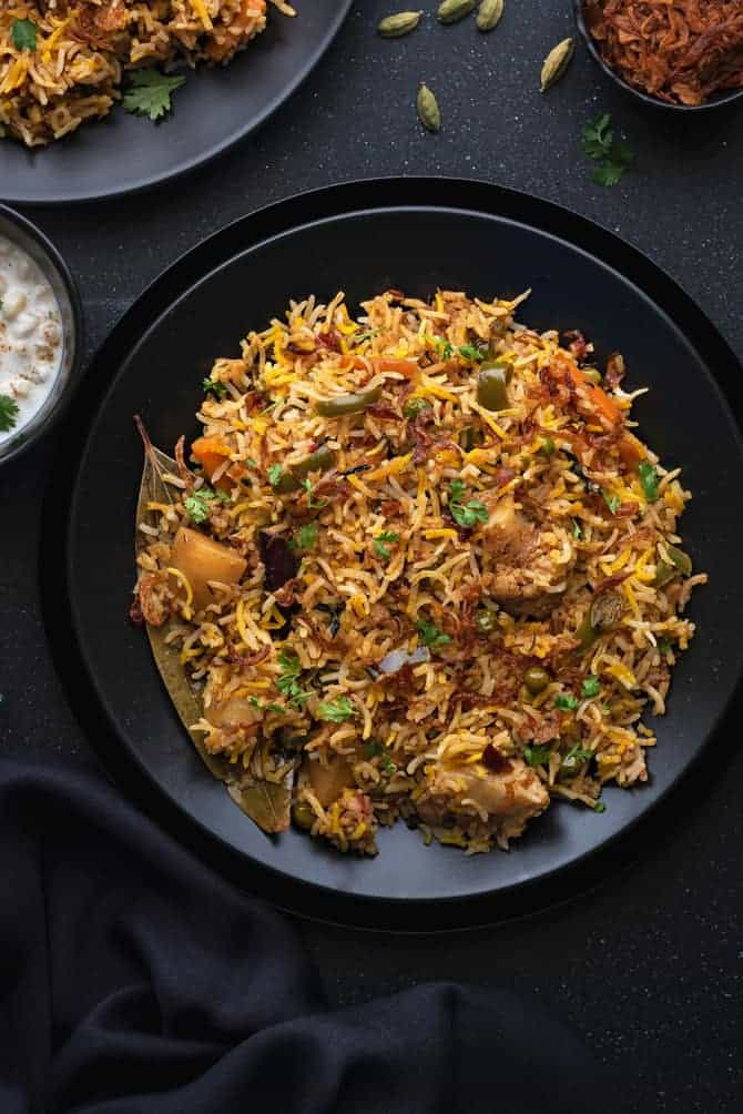 Vegetable Biryani Recipe Pressure Cooker Cubes N Juliennes
