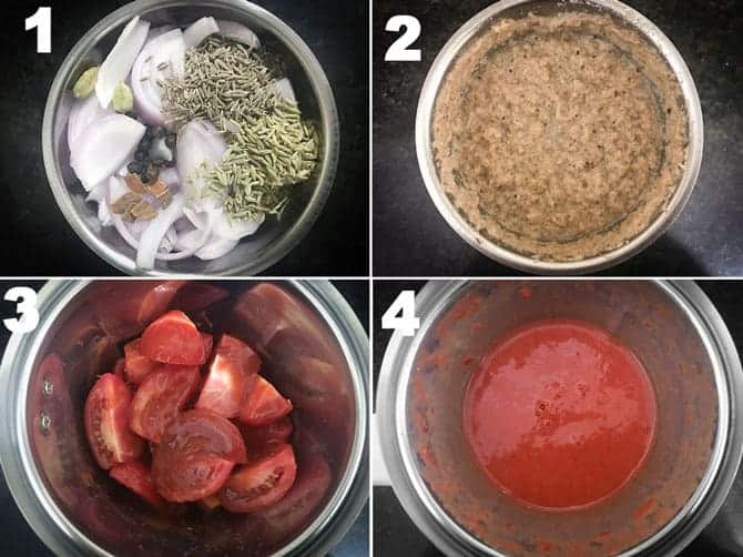 Step by step process for the preparation of chana masala recipe.