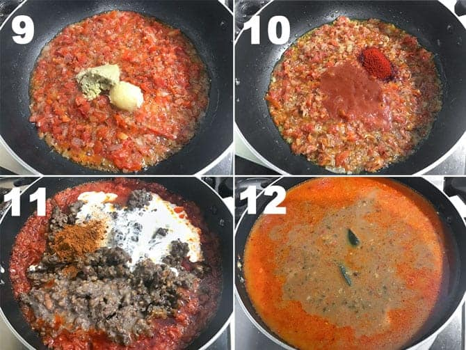 Step by Step collage process to cook dal makhani recipe on stove top.