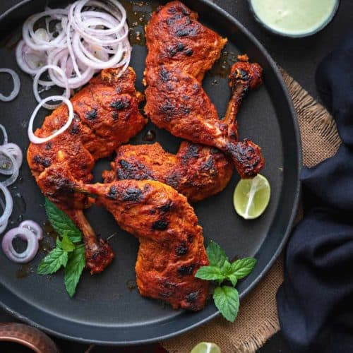 Tandoori Chicken Recipe Authentic Easy And Best Cubes N Juliennes