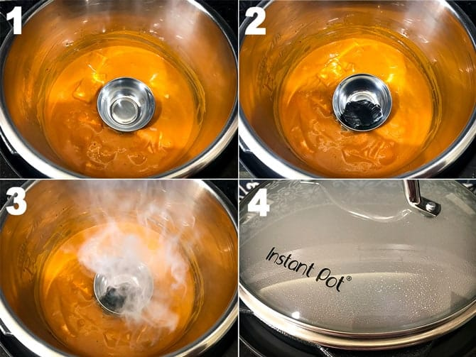 Step by Step picture collage to smoke paneer butter masala.