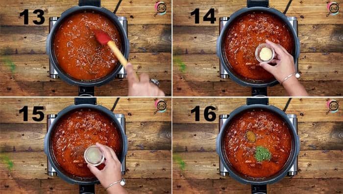 Step by step picture collage to cook rajma recipe.