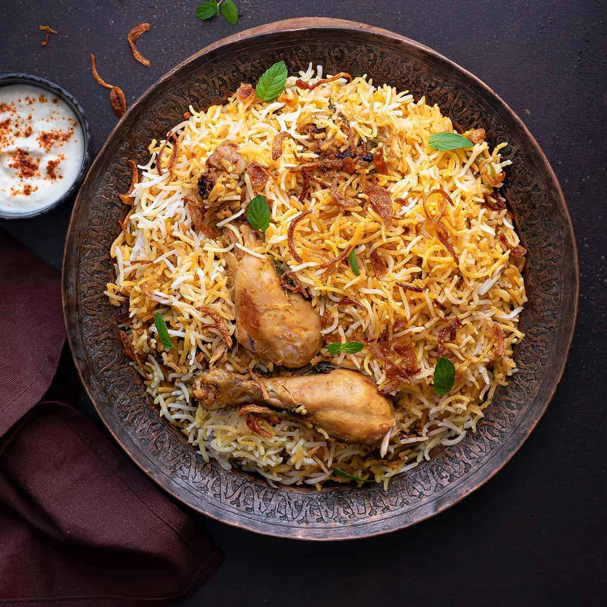 Origin of Kolkata Biryani
