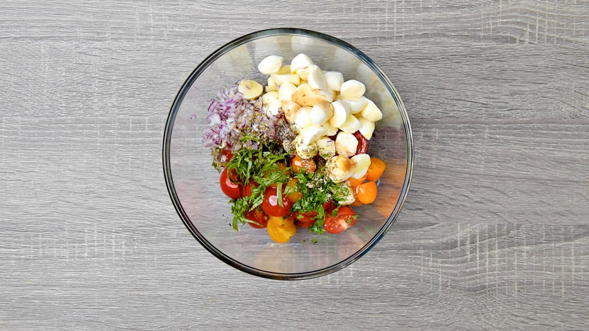 all ingredients together in a mixing bowl
